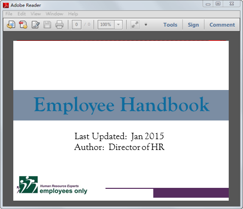 employee handbook privacy section 1 Supervisor's handbook june 2004 1 table of contents supervisor's handbook a guide to employee conduct and discipline i employee discipline in california state government.
